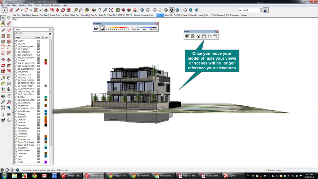 Off axis after move your Sketchup to suitGoogle Earth